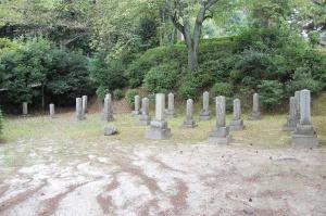 旧大津陸軍墓地  Cブロックの墓石群