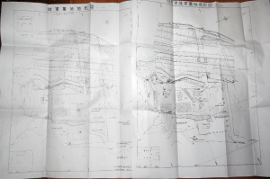 バイパス工事前と後の二枚の「旧大津陸軍墓地地形図」を入手