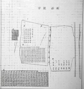 大津陸軍墓地の旧中段「西側」(大津市保管文書)
