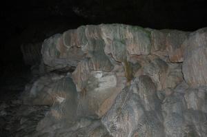 秋芳洞の鍾乳石・・・茶色や灰色でしたっけ?