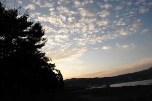琵琶湖の夕暮れ その1