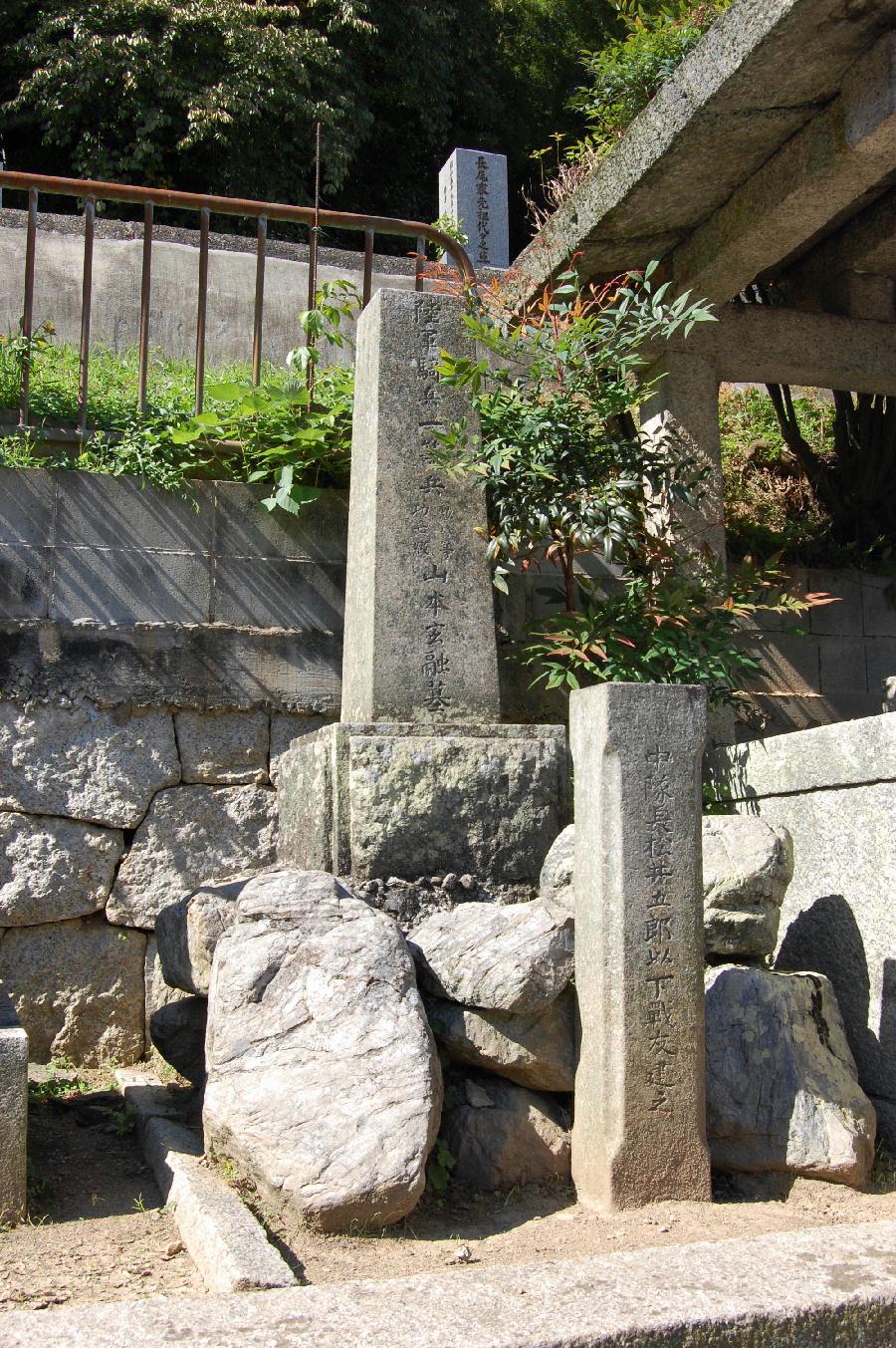 陸軍騎兵一等兵の墓石