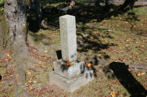 「奥田彌一郎之墓」@旧大津陸軍墓地