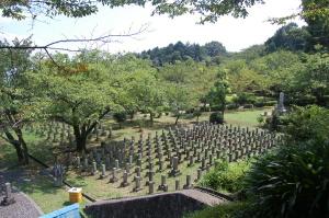 旧大津陸軍墓地の一部(手前がE、奥がF)