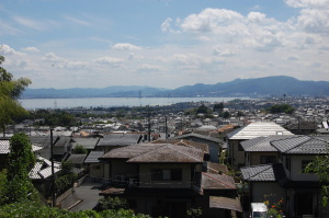 琵琶湖(南湖)を千野から眺める