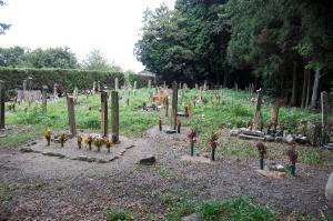 石塔非建立型の墓地(土山町にて)