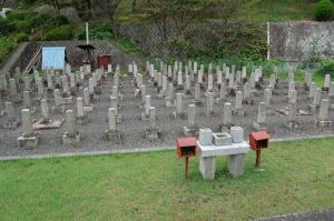 病没した日本人兵士も清国兵士の等しく眠る@旧大津陸軍墓地