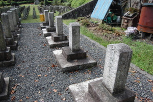 K131からK135 十八番大隊の墓碑