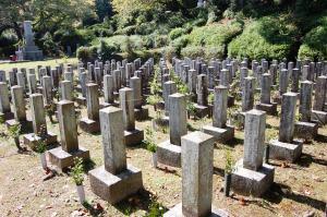 日清戦争戦病死者の墓地(Eブロック)@旧大津陸軍墓地