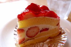 なんでもないケーキがまぶしいとき