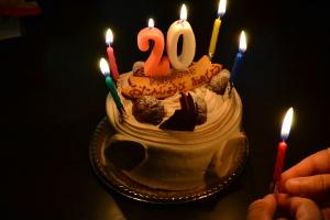20歳のバースディケーキ