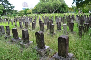 旧真田山陸軍墓地Fブロックの一部