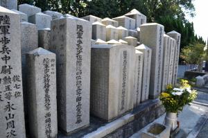将校の墓碑の取り扱い@現「比治山陸軍墓地」