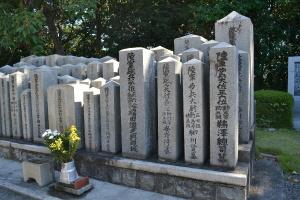 大佐、少佐クラスの墓碑も重ねて@現「比治山陸軍墓地」