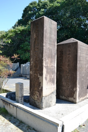 日清戦争「合葬之墓」の背面