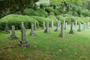 旧大津陸軍墓地 Dブロックと名づけた墓碑群