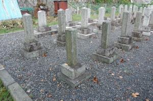 Kブロック第7列目@旧大津陸軍墓地