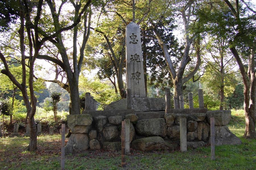 忠魂碑@今津(高島市)の正面です