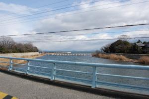 琵琶湖の三保が崎