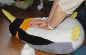 ペンギンの心臓マッサージ