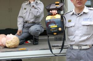 AEDの使用訓練をしました