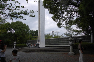 西南戦争の戦死者は全国に広がる@慰霊塔(田原坂公園)