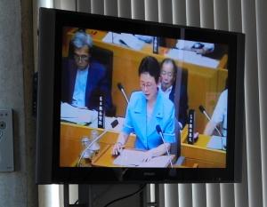 高島市議会でバス問題の質問を聴いた