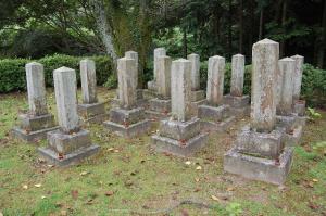 日清戦争期の下士官の墓地@旧大津陸軍墓地