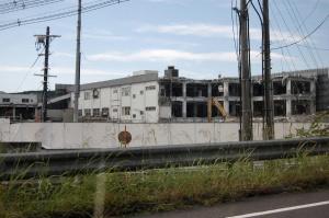 サンヨー工場の取り壊し