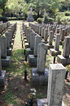 日清戦争戦病死者の墓地(一部)@旧大津陸軍墓地