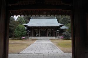 軍神を祭る広瀬神社、昭和の創建でも特別な形をもっていません