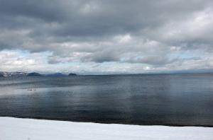 高島市(湖西地域)から眺める琵琶湖