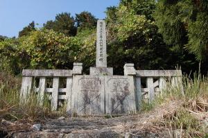 日清戦争戦没者の仁賀(にが)宗太郎の墓碑@旧高島郡大溝町
