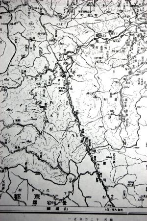 『高島郡地図』(郡誌から)の一部(朽木村付近)