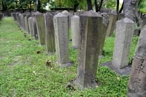 西南戦争の墓地で日置住吉墓碑と再会