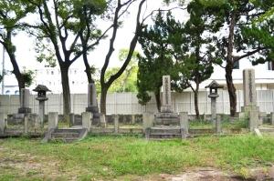 四つの日露戦争合葬碑@旧真田山陸軍墓地
