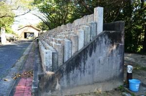 現「比治山陸軍墓地」のコンクリート製の土台